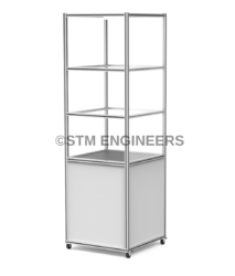 3 Shelf Lean Column