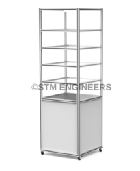 4 Shelf Lean Column