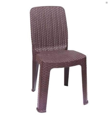 Brown Light Weight Plastic Armless Chair