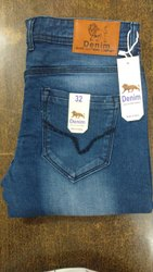 Stretchable Zipper Branded Denim Jeans, Age Group: Adults Only