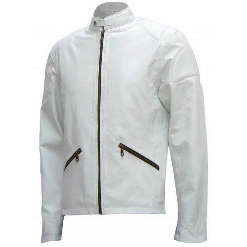 83aecf0c5 Medium Full Sleeve Mens White Leather Jacket, Rs 1100 /piece | ID ...