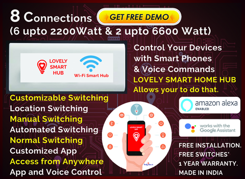 8 Connections Home Automation Plan - Lovely Ideas, Hyderabad
