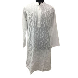 Men White Kurta