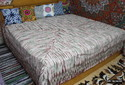 Dabu Hand Block Print Bed Sheet
