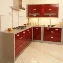 PVC L Shape Modular Kitchen