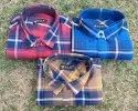 Men Party Wear Twill Cotton Fabric Check Shirts