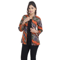 Indian Printed Cotton Ladies Quilted Jacket