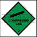 160032 Compressed Gas Stickers