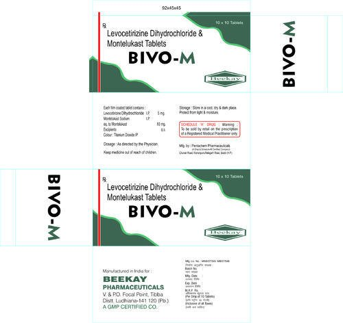 Bivo M Levocetirizine Dihydroride And Montelukast Tablets