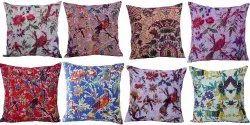 Bird Floral Kantha Cushion Cover