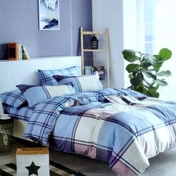 Checked Double Bed Sheet