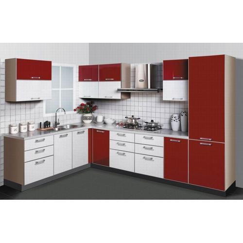 Kitchen Decoration Pakistan: Plywood L Shaped Modular Kitchen, Rs 200000 /square Feet