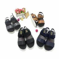 PCU Casual Wear Ladies Plain Flat Sandals, Size: 36-41