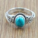 Handmade 925 Sterling Silver Ring Labradorite Gemstone