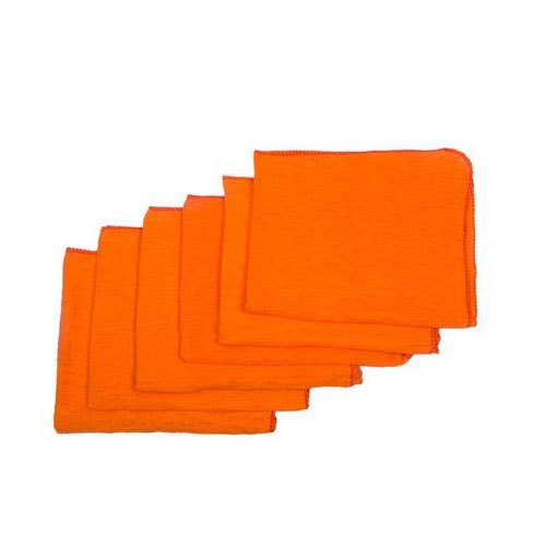 Cotton Orange Cleaning Duster, Size: 15x18