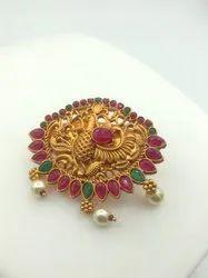 Matte Finish Saree Pin Collection - D 5076 RG
