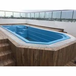 Blue Outdoor FRP Swimming Pool, 2.5 To 4.5 Feet