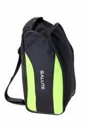 Salute Black and Green Shoe Bag