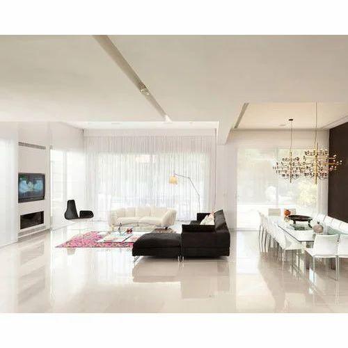 White Living Room Epoxy Flooring, Aero Flooring   ID ...