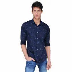Mens Blue Partywear Shirt