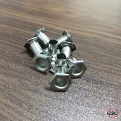 No. 600 Brass Hexagon Long Eyelets Nickel