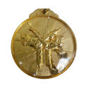 Gold Plated Karate Sports Medal