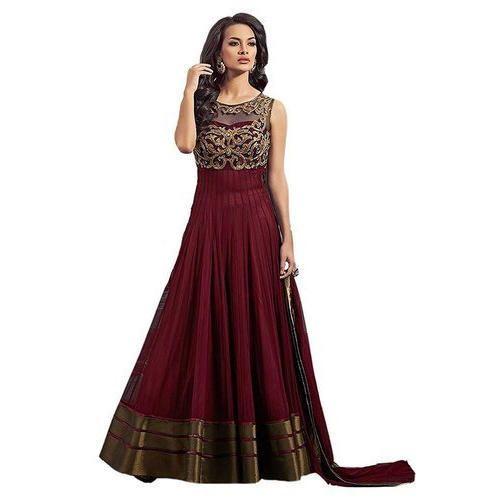 Georgette Ladies Wedding Wear Designer Suit Rs 249 Piece Shivam Fashion Id 17659812891,Long Sleeve Lace Ball Gown Winter Wedding Dresses