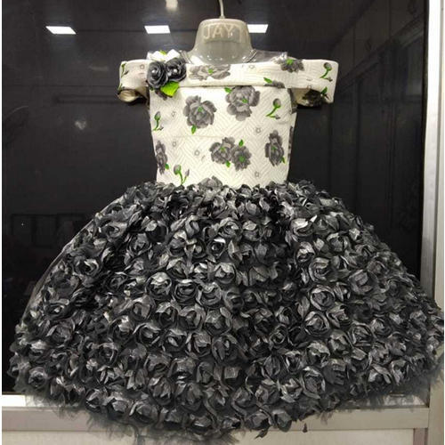 e48127330 Baby Girl Organza Floral Party Wear Frock