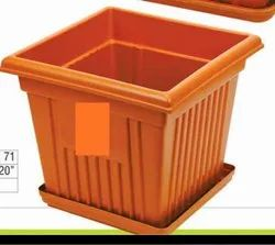 20x20  square uv plastic pot