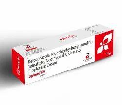 Upketo K5 Cream (Ketoconazole, Clobetasol, Neomycin, Tolnaftate & Idochlorhydroxyquinoline) Cream