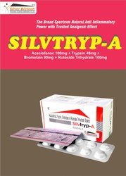 Trypsin 48mg,Bromelain 90mg,Rutoside Trihydrate 100mg,Aceclofenac 100mg