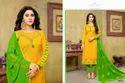 Round Neck Full Sleeve Havya Salwar Suit Fabric