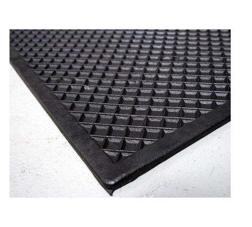 Diamond And Zig Zag Black Electrical Safety Mat Mat Size