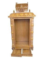 Sri Ram, Sita, Lakshmana & Baktha Anjaneya Swamy Divine Teakwood Temple 6'x3'x 1 1/2 feet