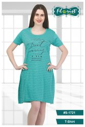 Ladies Long Cotton T-Shirt