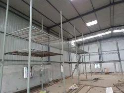 Gray Rectangular Industrial Storage Rack, 1000