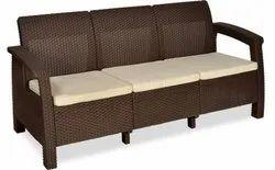 PVC Modern Nilkamal Three Seater Sofa Set