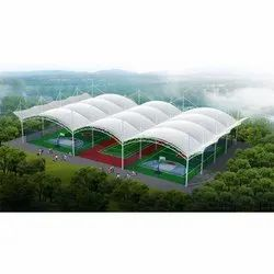 Modular Swimming Pool Covering Tensile Structure