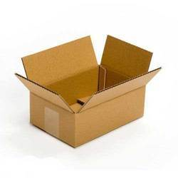 Brown And Rectangle Corrugated Box