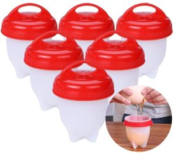 Silicon Egg Boil Cooker Mold Steamer Boiler 6 Pouch (Multi Color)
