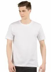Mens Plain White Round Neck T Shirts