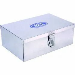 Silver X-17 Stainless Steel Pooja Box, For Home