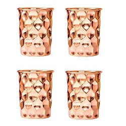 Diamond Cut Copper Glass
