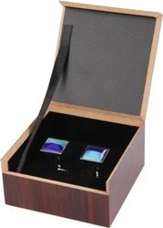 Black Wooden Cufflink Box, For Gift And Personal