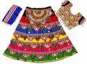 Dandiya Ras Kids Chaniya Choli - Indian Traditional Heavy Embroidered Lehenga Choli