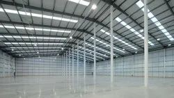 Mild Steel Prefab Warehouse Shed, 70-100 Km Per Hour