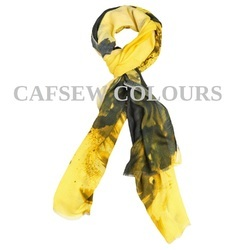 Yellow Printed Modal Scarves