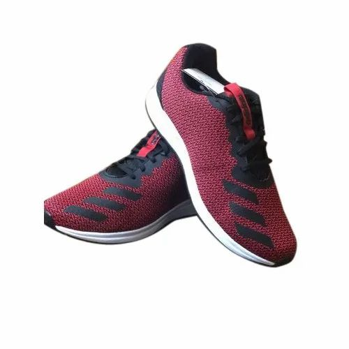Running Shoes Lace-Up Maroon Adidas