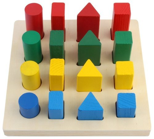 Colorful Wooden Balancing Game Children Educational Building Blocks Kid Toy OC