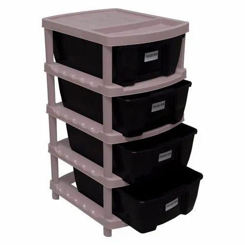 Rectangular Plastic Storage Drawer